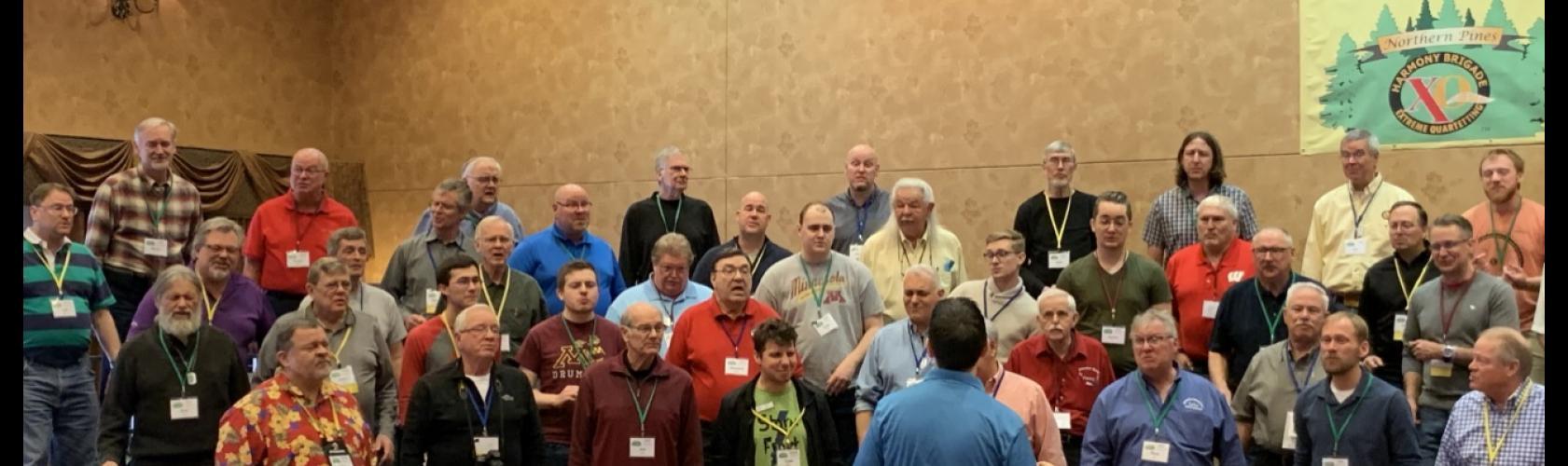 The Full Brigade Chorus of nearly 80 singers